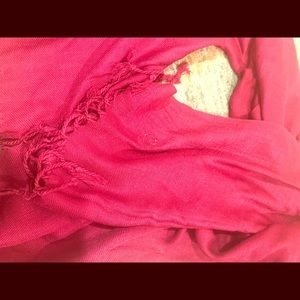 Long red scarf soft NWOT wrap around